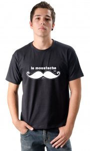 Camiseta Moustache (Estampa Branca)
