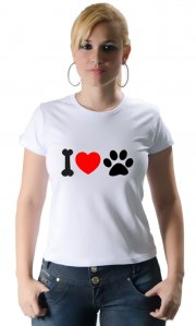 Camiseta I Love Pet (Estampa Preta)
