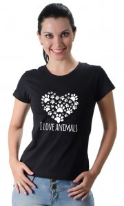 Camiseta I Love Animals
